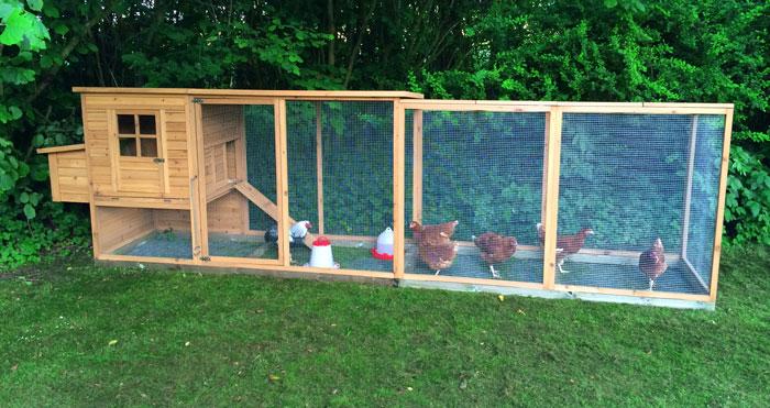 Ekstra længde hønsegård